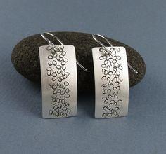 Silver Zen Handmade Earrings Pebble Path