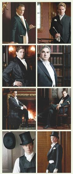 Men of Downton Abbey - Lol, I can so easily picture the other actors watching while each gets their picture taken and just grinning and snickering behind the photographer! Jane Austen, Watch Downton Abbey, Film Serie, Period Dramas, My Guy, Favorite Tv Shows, Movie Tv, Castle, Actors