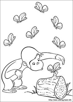 Curious George coloring picture--this site has tons of other George coloring pages too!