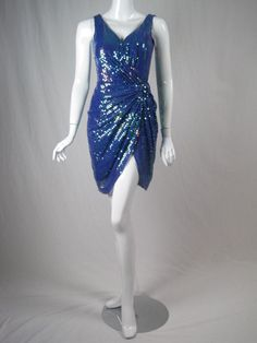 Vicky Tiel Couture Sequins Covered Dress | From a collection of rare vintage evening dresses at http://www.1stdibs.com/fashion/clothing/evening-dresses/