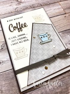 Nothing is Better Than Coffee, Cocktails and Foam Adhesive. - Stamping Bees Coffee Cocktails, Just Kidding, Stampin Up, Card Making, Good Things, Bees, Cards, How To Make