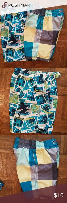 2 pair of boys swim trunks. Two pair of boys swim trunks. Mossimo Supply Co. Swim Swim Trunks
