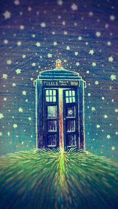 Love this idea. Makes me want to creat my very own Tardis drawing/ painting.