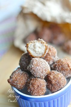 Petite Allergy Treats: Gluten Free Fried Donut Holes (Vegan Dairy Free Soy Free)
