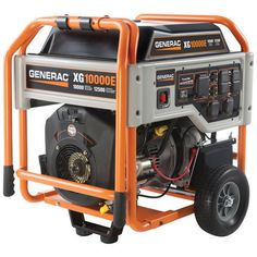 Generac 5802 Watt OHVI Gas Powered Portable Generator with Wheel Kit & Electric Start for sale Generator Box, Gas Powered Generator, Portable Generator, Power Generator, Generator For Home, Generators For Sale, Best Solar Panels, Rv Hacks, Tractor Supplies