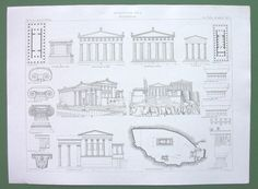 GREECE Acropolis of Athens Views Plans of Temples by martin2001, $24.00