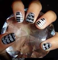 Piano key nail art
