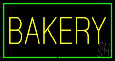 Yellow Bakery Rectangle Green Neon Sign 20 Tall x 37 Wide x 3 Deep, is 100% Handcrafted with Real Glass Tube Neon Sign. !!! Made in USA !!!  Colors on the sign are Green and Yellow. Yellow Bakery Rectangle Green Neon Sign is high impact, eye catching, real glass tube neon sign. This characteristic glow can attract customers like nothing else, virtually burning your identity into the minds of potential and future customers.