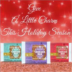 Give a little CHARM this holiday season! http://charmedbar.com/collections/all