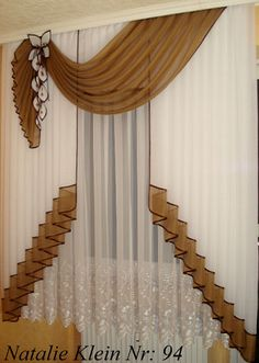 Home & Decor Elegant Curtains, Beautiful Curtains, Modern Curtains, Home Curtains, Curtains With Blinds, Window Curtains, Valances, Window Coverings, Window Treatments