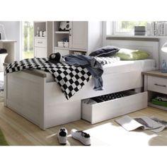 Postel Luca 90x200 cm, bělená pinie Küchen Design, Laundry Room, Toddler Bed, Storage, Furniture, Home Decor, Mariana, Bedroom Inspiration, Modern Bedroom