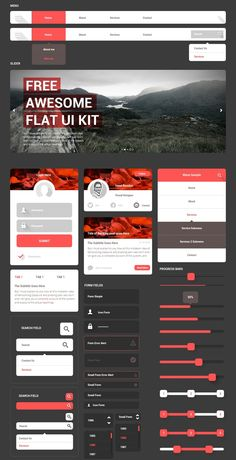 Free Awesome Flat UI Kit