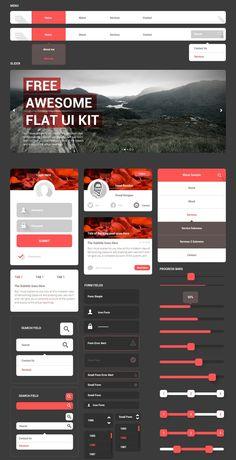 Free Awesome Flat UI Kit