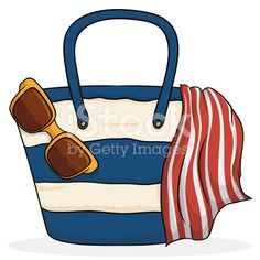 Beach Purse with Summer Elements Free Vector Art, Image Now, Purses, Beach, Illustration, Summer, Handbags, Summer Time, The Beach