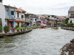 Houses along the Riverside in Malacca, Malaysia