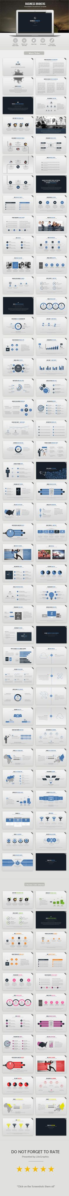 Business Brokers Powerpoint Template. This presentation template is so versatile that it can be used in many different businesses.