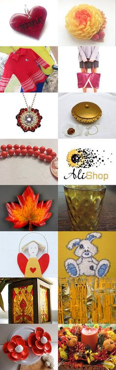 Red and Yellow by Laura P. on Etsy--Pinned with TreasuryPin.com