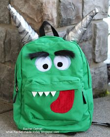 What I Made Today: TUTORIAL: Monster Backpack