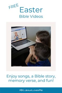 Unsure how to teach your child the stories of Easter? Join Ms Heidi for Preschool Bible Time! You and your child will love these interactive videos that include songs, memory verses, Bible stories, and fun. Click to view the FREE videos #BibleStories #SundaySchool #Easteractivities #EasterandJesus #PreschoolEaster #ABCJesusLovesMe Preschool Bible, Preschool Curriculum, Memory Verse, Free Bible, Easter Activities, Bible Stories, Sunday School, Verses, Ms