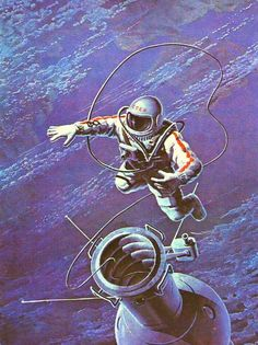 Fifty years ago today,  Alexei Leonov floats into history as the first human to go on a spacewalk, March 18, 1965.