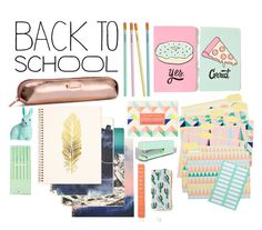 """back to school supplies h & m and urban outfiters"" by annieanne-tumblr13 ❤ liked on Polyvore featuring interior, interiors, interior design, home, home decor, interior decorating, H&M, poppin., Sonix and BackToSchool"