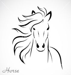 Abstract Horse Outline | Horse vector