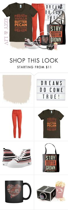 """""""French Vanilla, Butter Pecan, Chocolate Deluxe T-Shirt"""" by linseygreen ❤ liked on Polyvore featuring My Cinema Lightbox"""