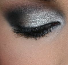 Get this look with new ShadowSense shades: Onyx, Granite, and Snow. Top with ShadowSense Shine for a shimmer effect.