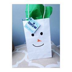 """Custom favor tags for a winter one-derland party. Hope you had """"snow"""" much fun I Custom by Nico and Lala"""