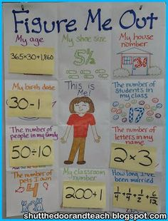 First Day! Shut the Door and Teach: Figure Me Out Beginning of the Year Math