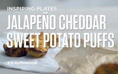 Jalapeño Cheddar Sweet Potato Puffs [Video] | Recipe
