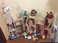 I'm going to turn this wooden castle into a Princess Palace for my Disney Princesses. Dollhouse Dolls, Dollhouse Miniatures, Wooden Castle, Princess Palace, Lol Dolls, Disney Princesses, Dollhouses, Creative, Baby Doll House
