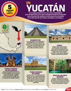 Chichén Itzá, Uxmal e Izamal son destinos mágicos con los que cuenta el estado de Yucatán, conoce más de esta entidad. #InfografíaNTX
