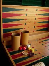 Sharp RARE Vintage GUCCI Backgammon Game Set Barware Library GG Accessory