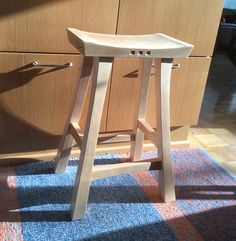 Asian-inflected kitchen stool (birch)