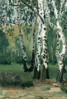 """ Walter Ophey Eupen 1882-1930) Birch Trees at Heiderand (1904-05) """