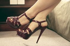 What color shoes to wear with maroon dress?Best Answer: Black always looks good (:I actually own that dress, and I have a pair of black pumps that I wear with it.Image viahow to wear High Heels 2016, Sexy High Heels, Stilettos, Pumps, Heeled Boots, Shoe Boots, Shoes Heels, Ysl Heels, Strap Heels