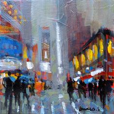 "Daily+Paintworks+-+""Fog+in+new+york""+-+Original+Fine+Art+for+Sale+-+©+salvatore+greco"