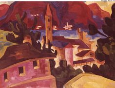 Oil on canvas Canvas Size, Oil On Canvas, Karl Schmidt Rottluff, Blue Rider, Degenerate Art, Ernst Ludwig Kirchner, Expressionist Artists, Fauvism, Landscape Paintings