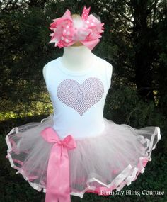 Girls BBC - Girls Valentines Pink Heart Tutu Dress