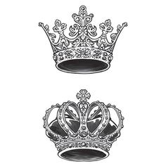 King & Queen Crown Temporary Tattoos These crowns are a royal pair, just like the two of you, so share this tattoo set with your one-and-only. Queen Crown Tattoo, King Queen Tattoo, King Tattoos, Princess Crown Tattoos, Tattoo Crown, Future Tattoos, New Tattoos, Body Art Tattoos, Heart Tatoo