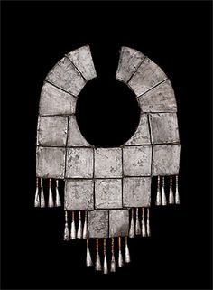 Peru, North | Pectoral; silver, shell, semi-precious stones | Chimú culture. | 100 - 1470 AD