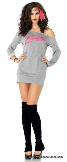 an idea for my costum! Leg Avenue Flashdance Sweatshirt Dress Adult Costume - Candy Apple Costumes - Browse All Women's Costumes
