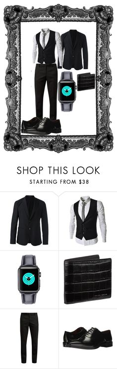 """""""Untitled #16"""" by rosshandmadecrafts ❤ liked on Polyvore featuring Emporio Armani, BOSS Hugo Boss, Yves Saint Laurent, Massimo Matteo, men's fashion and menswear"""