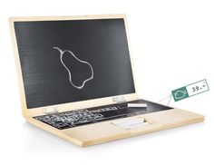 As a way to give your child a real laptop. | The 31 Most Useful Ways To Use Chalkboard Paint