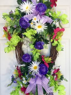Oval Summer or Spring Grapevine Wreath by WilliamsFloral on Etsy https://www.etsy.com/listing/286312925/oval-summer-or-spring-grapevine-wreath