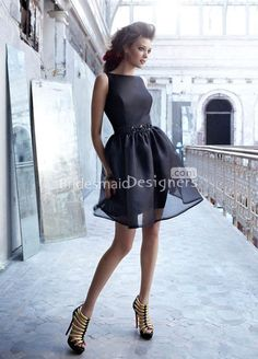 black organza bridesmaid dress with sheer pencil skirt boat neckline rush orders tons of jewel colors