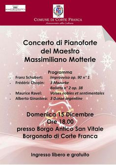 Iseo & Franciacorta News : CORTE FRANCA 15.12.13 Concerto al pianoforte del M° Motterle