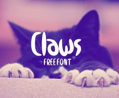 Claws free font