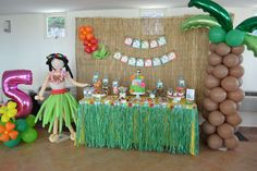 Hawaiian Luau Birthday Party Ideas | Photo 1 of 33 | Catch My Party